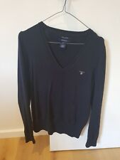 GANT Ladies Jumper Size M 100% Cotton Navy
