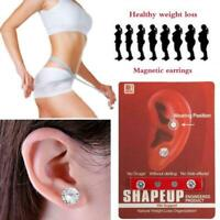 2PCS Earring Weight Loss Magnetic Earrings Slimming Stud Care Therapy D8A7