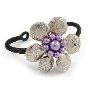 Romantic Floral Cuff Bracelet - Adjustable