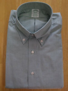 NWOT Brooks Brothers Green Supima Oxford Button Down 16.5-36 Milano MSRP $140