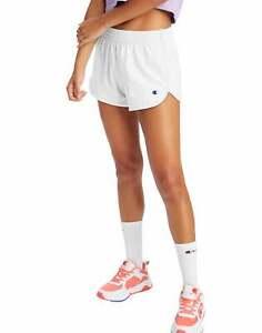Champion Life Gym Shorts Women's Cotton Jersey Mid Rise Elastic Waist Workout