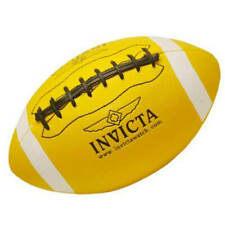 Invicta Football American Sport Yellow with Black Raised Laces IG0006