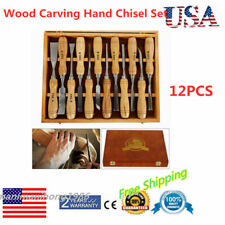 12*Wood Carving Set Wood Gouge Chisels Detail Parting Woodworking Carving Tools