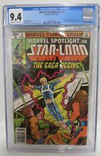 Marvel Spotlight v2 #6, CGC 9.4, 1st comic book app. Star-Lord; Newsstand