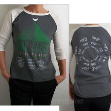 Junk Food Pink Floyd MOON 3/4 Color Block Raglan Trunk Cotton Slim Fits T-shirt