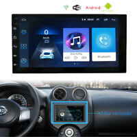 "Car Bluetooth Stereo Radio Multimedia Video Player 2 din 7"" Android FM GPS Wifi"