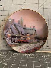"Garden Cottages of England Thomas Kinkade McKenna's Cottage"" Collector Plate"