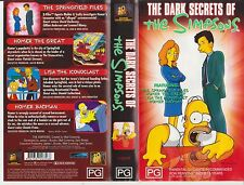 Vhs * The Simpsons - Dark Secrets Of  * Late 90's Cult - 4 Full Length Episodes!