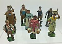 x 9 Britains and Similar Farm & Garden Figures Pre War