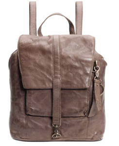 Frye And Co Rubie Small Backpack Brown Front Flap Adjustable Dual Handle New