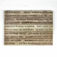 Art for the Home Life is Beautiful Print on Wood Wall art (Was £45)