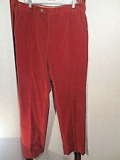 TOMBOLINI DARK RED CORDUROY Cotton Casual Pants Size 52/34