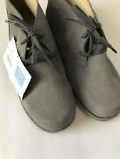 Janie & Jack Boys Chukka Suede GRAY Dress Shoes Size 5 5K NEW NWT Desert Boots