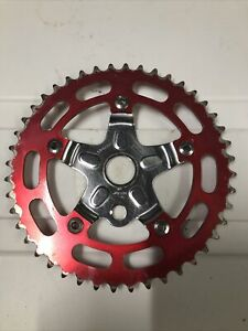 Sugino 44 Tooth Chainring Sprocket and Chrome Spider with Nuts OLD SCHOOL BMX