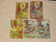 1940s Milton Bradley Box Set Of 4 Childrens Puzzles No.4237 Complete Nice