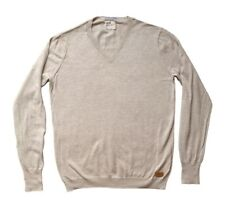 Mens V Neck Jumper by Boxfresh (Medium) in Cream. New (with small defect)
