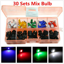30 Sets Mixed Color T5 LED Twist Socket Non-Decoding Car Dashboard Bulb Lights