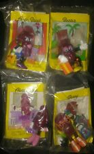 VINTAGE 1991 CALIFORNIA RAISINS HARDEES FAST FOOD 4PC SET SEALED UNOPENED RARE