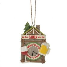 Cabin Ornament At the Cabin We do Wine Thirty and Beer O'Clock Funny Decoration
