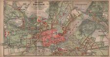 POTSDAM town city stadtplan & environs/umgebung. Nowawes. Brandenburg 1900 map