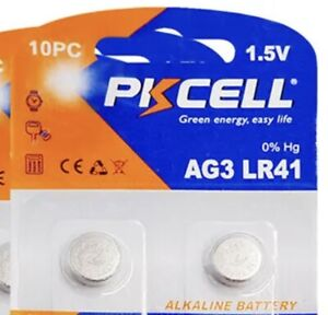 2 PC LR41 AG3 392A 192 SR41 LR736 1.5V Alkaline Button Cell Thermometer Battery