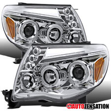 For 2005-2011 Toyota Tacoma Clear Halo Rims Projector Headlights LED DRL Strip