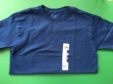 Boys Navy Fruit of the Loom Cotton T Shirt - Size L 10-12 -NWT