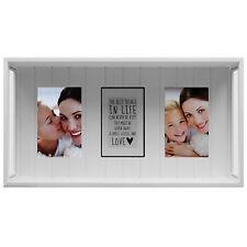 Fotoregal Bilderregal Fotorahmen Bilderrahmen 45x24x10cm für 10x15cm Weiß