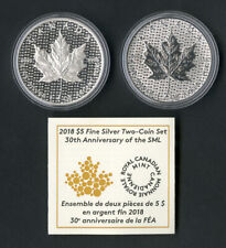 Canada Coins 2018 Silver Two-Coin SML Set 30th Year COA MIB NO RESERVE!