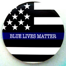 BLUE LIVES MATTER US FLAG BUTTON PIN BACK