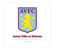 ASTON VILLA V WOLVES Premier League Programme. Free UK Delivery