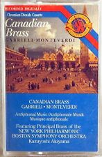 CBS DIGITAL 1989 CASSETTE Gabrieli Monteverdi CANADIAN BRASS Akiyama MT-44931