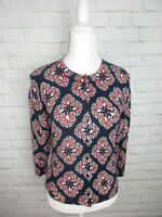 Crown & Ivy women's size Small Pink and Navy Cardigan Sweater NWT $60
