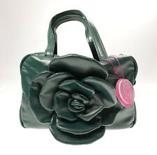 Borsa Bauletto Media in Ecopelle CAMOMILLA FLOWER Colore Verde Scuro