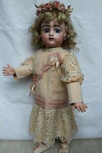 """Silk dress for antique baby doll 24""""."""