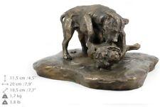 Pit Bull combat, statue de chien sur une base en bois édition limitée Art Dog FR