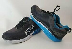 Hoka One One Mens Arahi 2 1019275 Size 10 USA  black and Blue