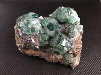 Green Fluorite Crystal On Matrix From Rogerly Mine UK