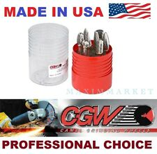 "CGW 8-Piece 1/4"" with 1/2"" head diameter shank rotary double cut carbide bur kit"
