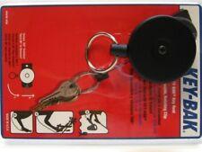 "Key-Bak Black Original Retractable 36"" Cord Key Chain Ring Reel 484B-SDK"