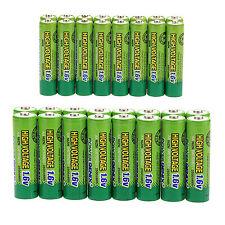 16pcs AA 2500mWh &16pcs AAA 900mWh 1.6v NiZn Rechargeable Battery Batteries Kit