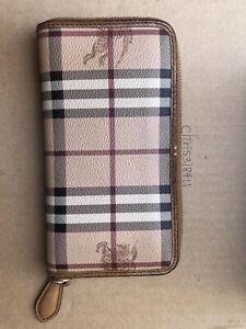 Authentic burberry Haymarket nova check Zip Around wallet