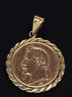 NAPOLEON III PENDANT GOLD PLATED VERY ELEGANT VINTAGE FRENCH HALLMARKS