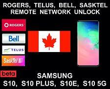 Rogers, Telus, Bell, Sasktel Canada Remote Unlock, Samsung S10, S10E, Plus, 5G