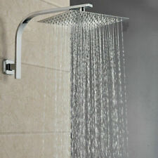 8-inch Square Rain Shower Head Brushed Nickel Wall Mount Shower Arm Top Heads