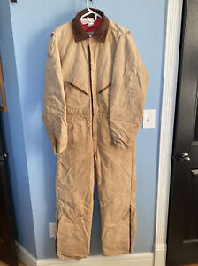 Walls Blizzard Pruf Insulated Coveralls Men's Size Large Distressed Wear USA VTG