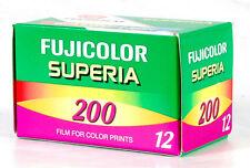 FUJIFILM FUJICOLOR SUPERIA 200 ISO 35mm COLOR NEGATIVE FILM! 12 EXP! FUJI 7/06