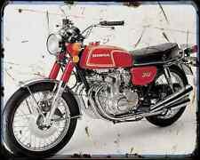 Honda Cb350F 73 A4 Metal Sign Motorbike Vintage Aged