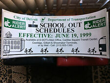 DDOT Detroit Dept. of Transportation New Schedules bus advertisement 1999