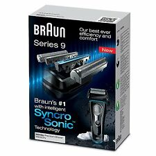 Braun Series 9 9040s Men's Wet & Dry Syncro Sonic Electric Foil Cordless Shaver